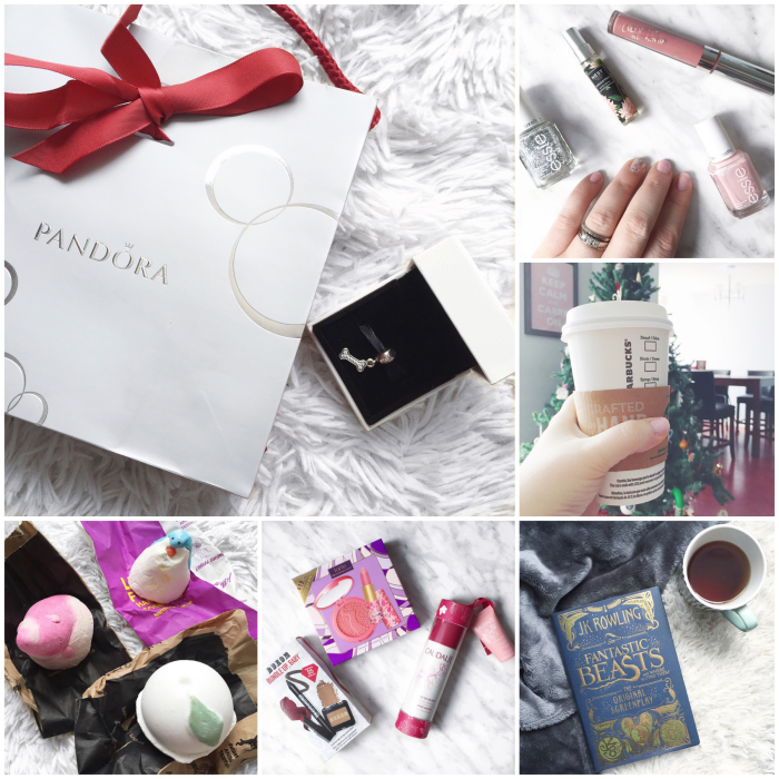 bbloggers, bbloggersca, canadian beauty bloggers, instagram, instamonth, round up, bloggers, lbloggers, pandora, i love my dog charm, essie just stitched, set in stone, lush christmas haul, penguin, so white, candy mountain, boxing day, sephora, fantastic beasts and where to find them