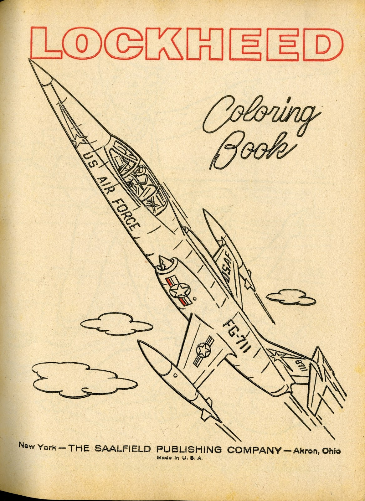 Lockheed Coloring Book Visit With Jerry And Kathy New York Saalfield Pub Co 64 P 27 Cm 1615 1960
