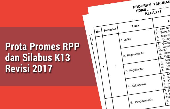 Prota Promes RPP dan Silabus K13 Revisi 2017