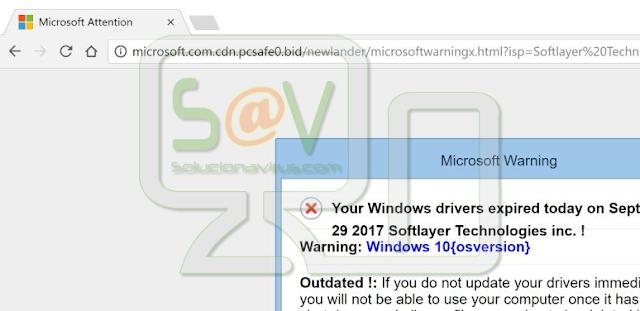 Microsoft.com.cdn.pcsafe0.bid (Alertas falsas)