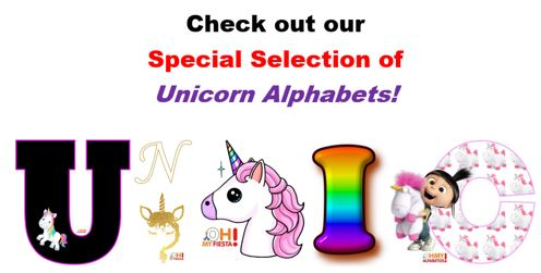 Unicorn Alphabets