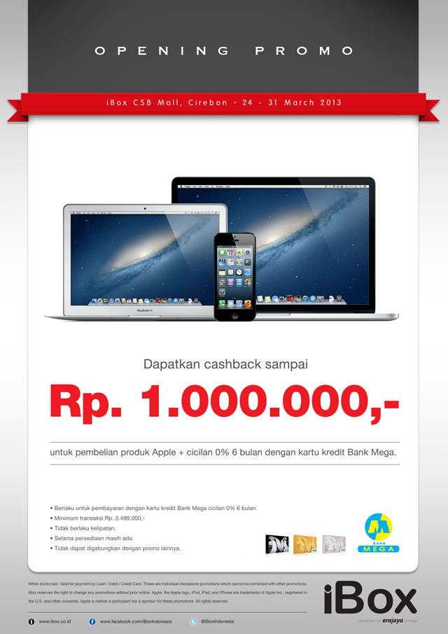 Ibox Dengan Bank Mega Promo Produk Apple Diskon Hingga Rp 1 Juta