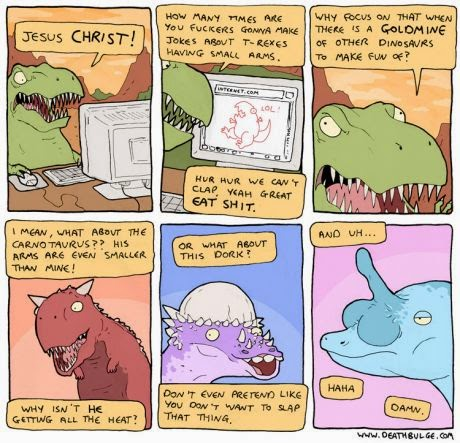 Death Bulge T-Rex comics