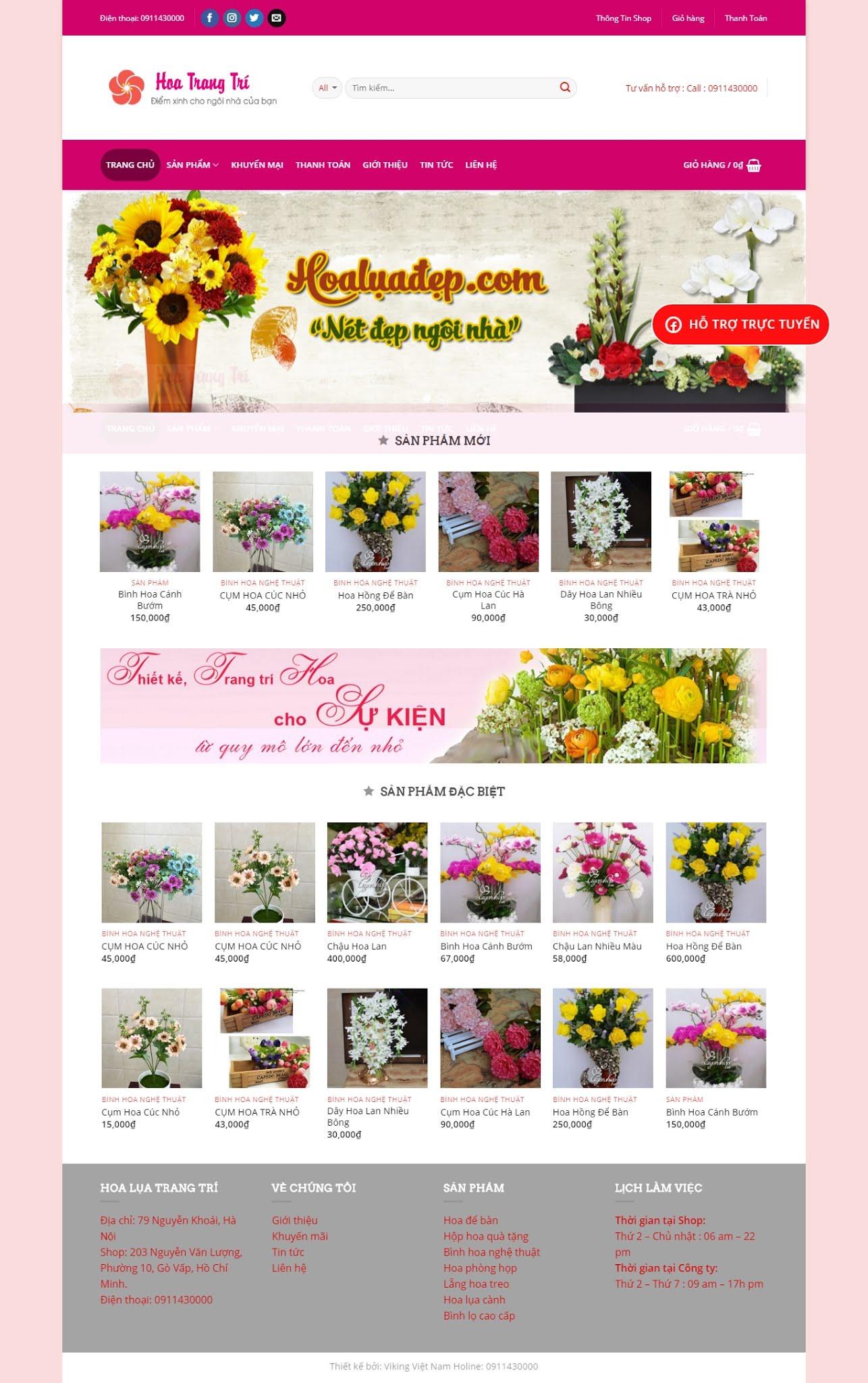MẪU BÁN HÀNG 042 - bán hoa