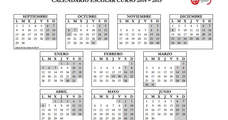 El blog de FETE-UGT Ceuta: Calendario escolar 2014/2015