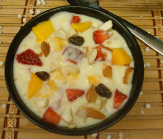 mix fruit kheer recipe in urdu