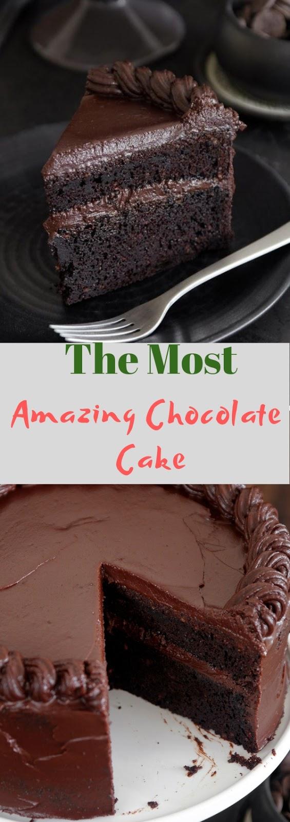 The Most Amazing Chocolate Cake #dessert #cake #chocolate