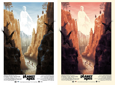Planet of the Apes Screen Print by Kevin Wilson x Grey Matter Art x Acme Archives - Regular & Variant Editions