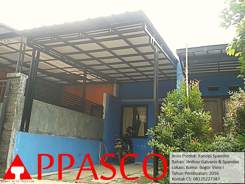 Kanopi Minimalis Spandex di Bogor View