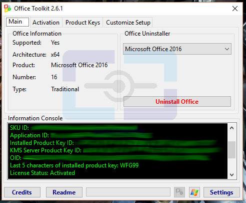 Microsoft Office Activado con Microsoft Toolkit
