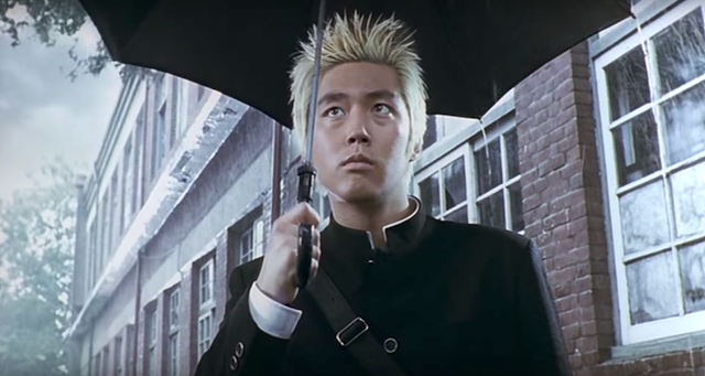 Jang Hyuk in Volcano High (2001) action comedy in the martial arts genre