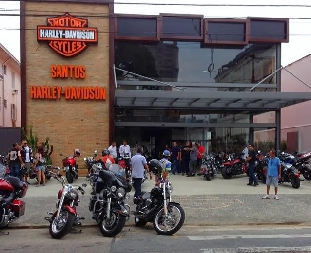 8543d523acf22 A Harley-Davidson abre as portas da Santos Harley-Davidson, primeira  concessionária da marca no litoral paulista.