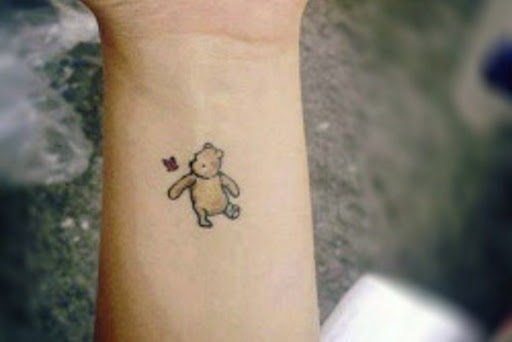 Winnie the Pooh Micro Tatuagem