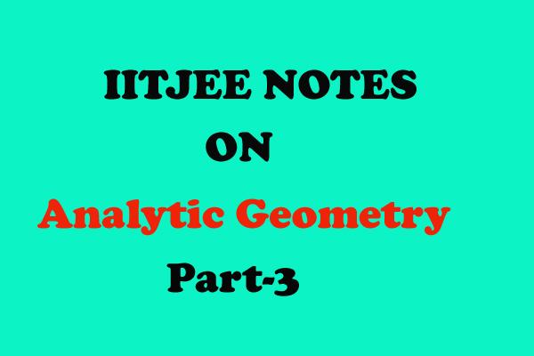 analytic geometry class 11