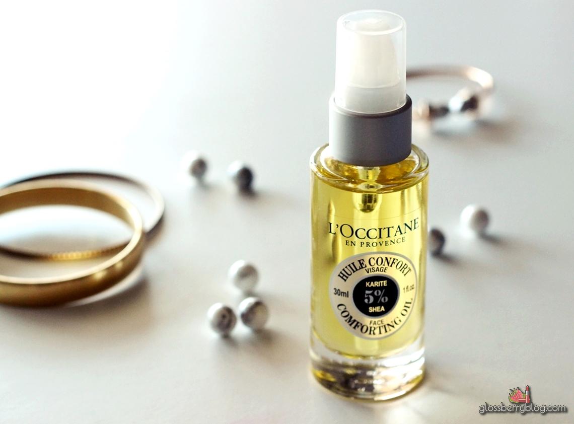 L'Occitane - Huile Confort  - שמן פנים חמאת שיאה  לוקסיטן לאוקסיטן סקירה review face oil גלוסברי בלוג איפור וטיפוח