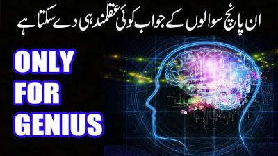 5 Case Solving Questions HIndi Urdu