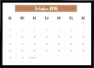 Calendari octubre