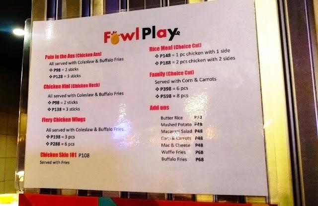 Eat Together - Fowl Play Menu