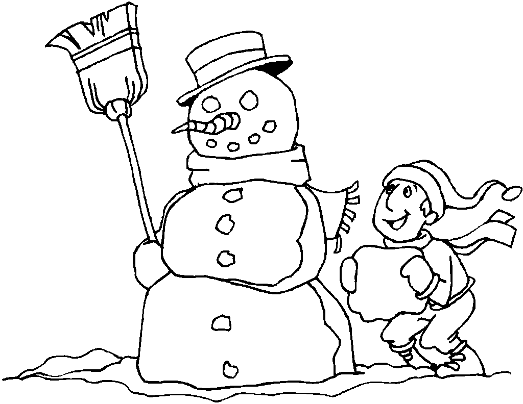 Coloring pages christmas snowman coloring pages free and for Christmas coloring in pages