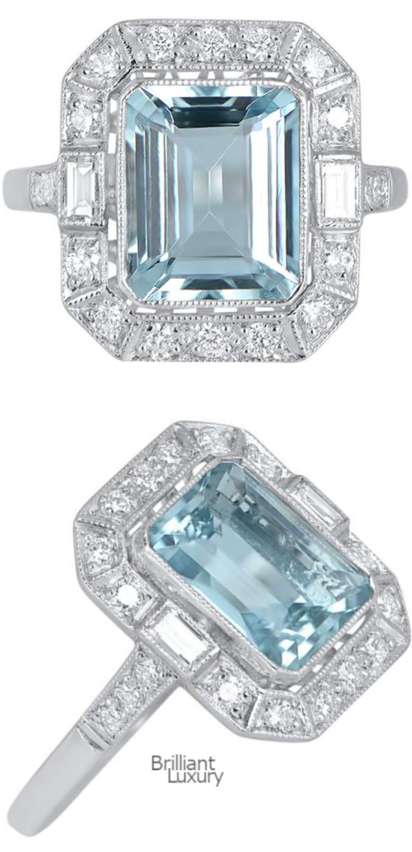 Brilliant Luxury♦3ct Aquamarine Engagement Ring