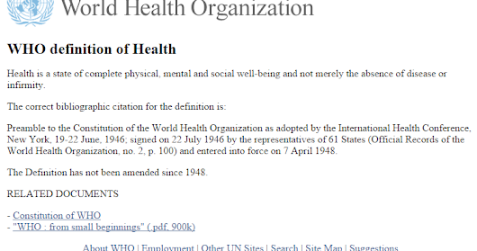 world health organizations definition of health Health-related quality of life and well-being is a new topic area for healthy people 2020 more information on health-related quality of life and well-being can be found in the foundation health measures section of this web site.