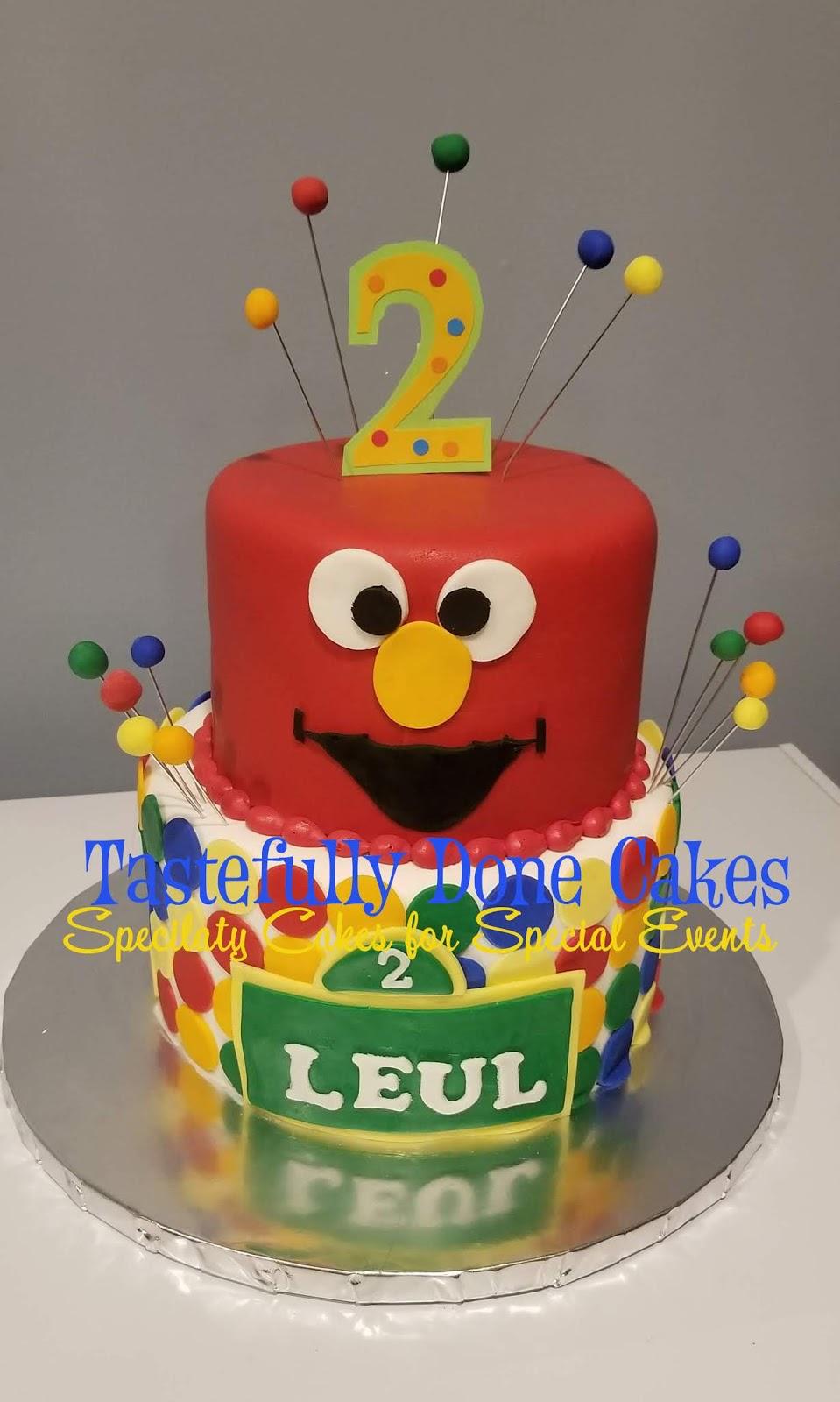 Elmo Birthday Cake 2 Tier