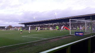 Goalmouth action, Forest Green Rovers vs Morecambe FC