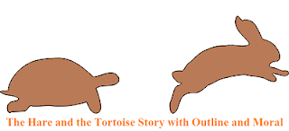 The Hare and the Tortoise Story with Outline
