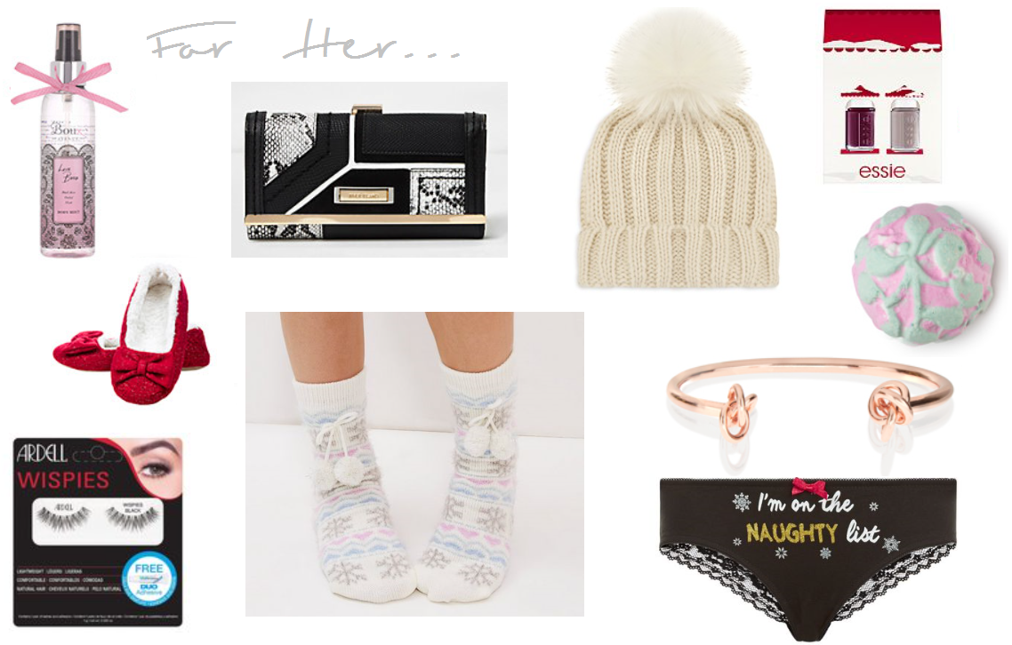 stocking fillers for her blog post