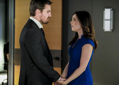 Arrow 5x18 Disbanded Oliver Queen Susan Williams promo pic