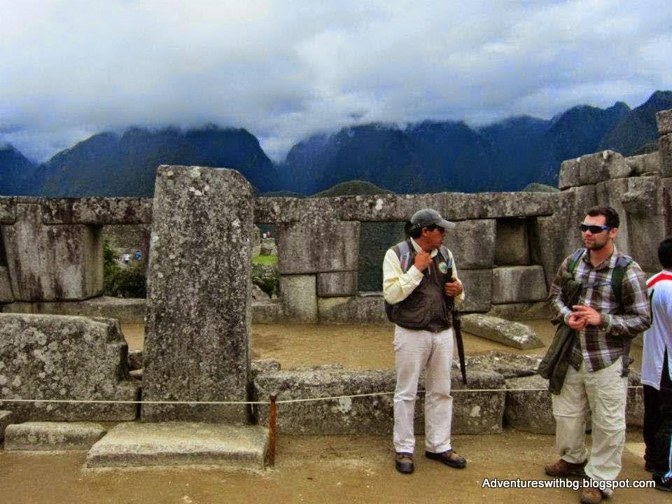 on Machu Picchu