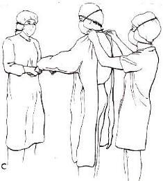 Nurse: Técnica de colocación de bata quirúrgica