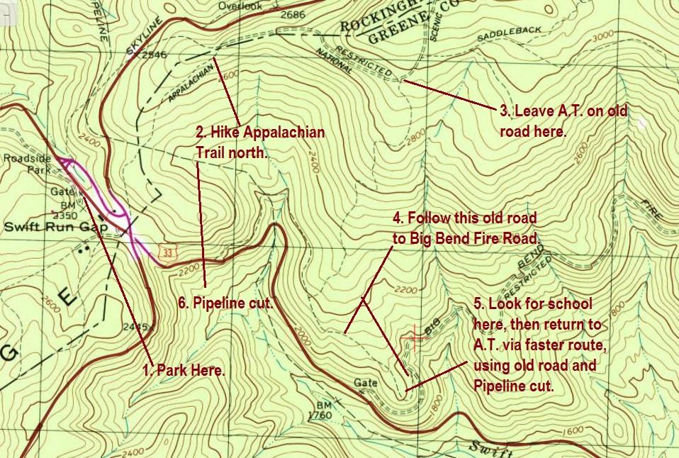 Wandering Virginia A Primer For Bushwacking In Shenandoah National Park - Appalachian trail topo map