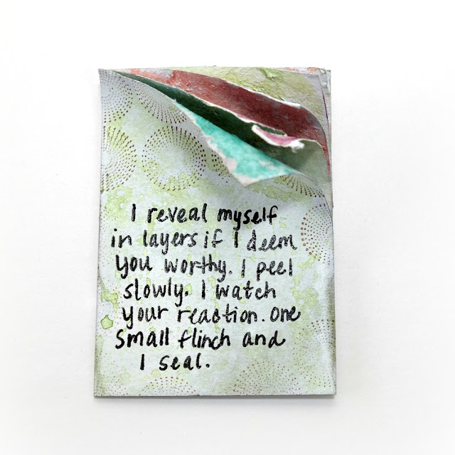 Peeled Layers Artist Trading Card by Dana Tatar for Tando Creative