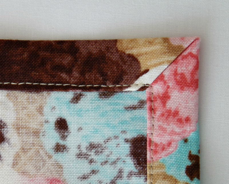 How to sew tidy corners