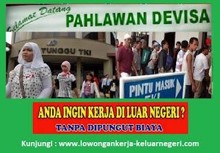 Info Lowongan Kerja ke Luar Negeri Hub Ali Syarief 081320432002