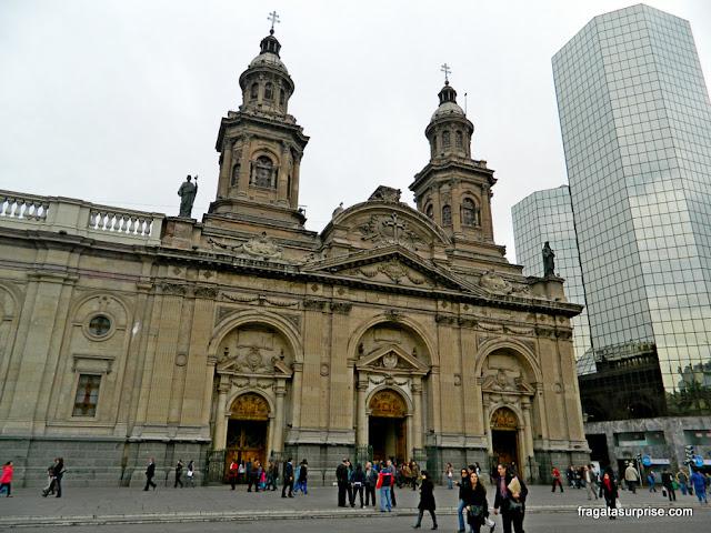 Catedral de Santiago do Chile, na Plaza de Armas