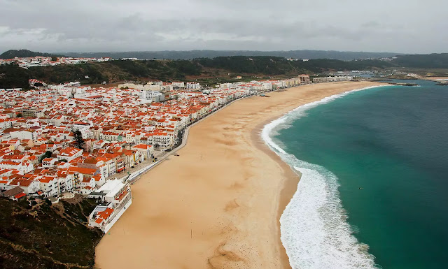 Nazaré wave surfing Portugal