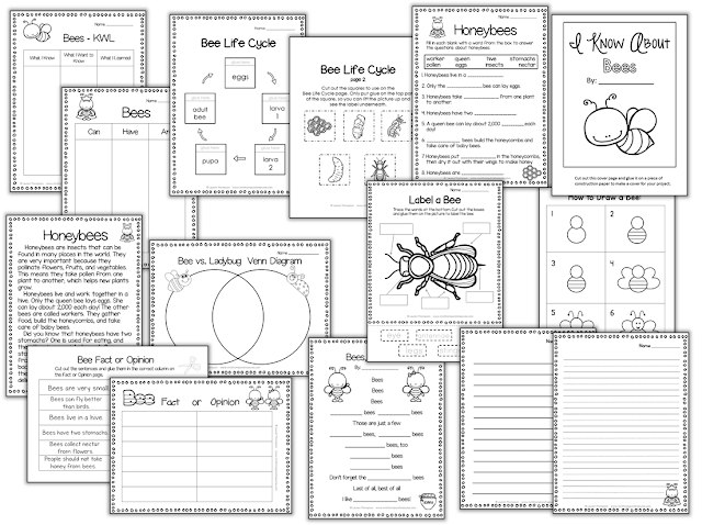 https://www.teacherspayteachers.com/Product/I-Know-About-Bees-Nonfiction-Mini-Unit-Graphic-Organizers-1885824