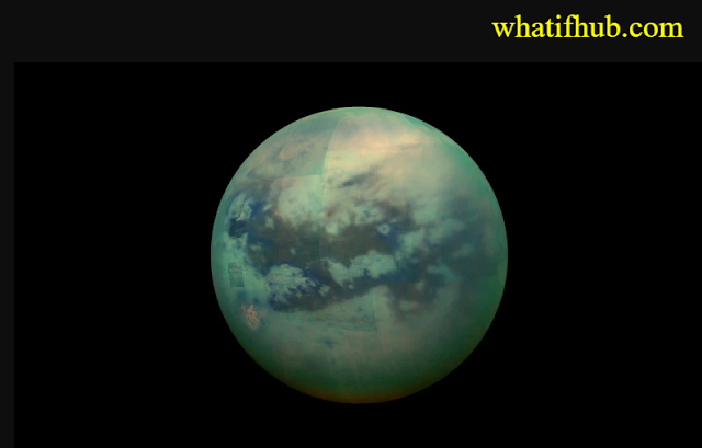 Can We Live On Titan?  Titan is a corker of a moon – It orbits the planet Saturn along with 61 other moons.
