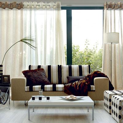 Disenyoss decoracion diferentes tipos de cortinas para for Visillos para salon rustico