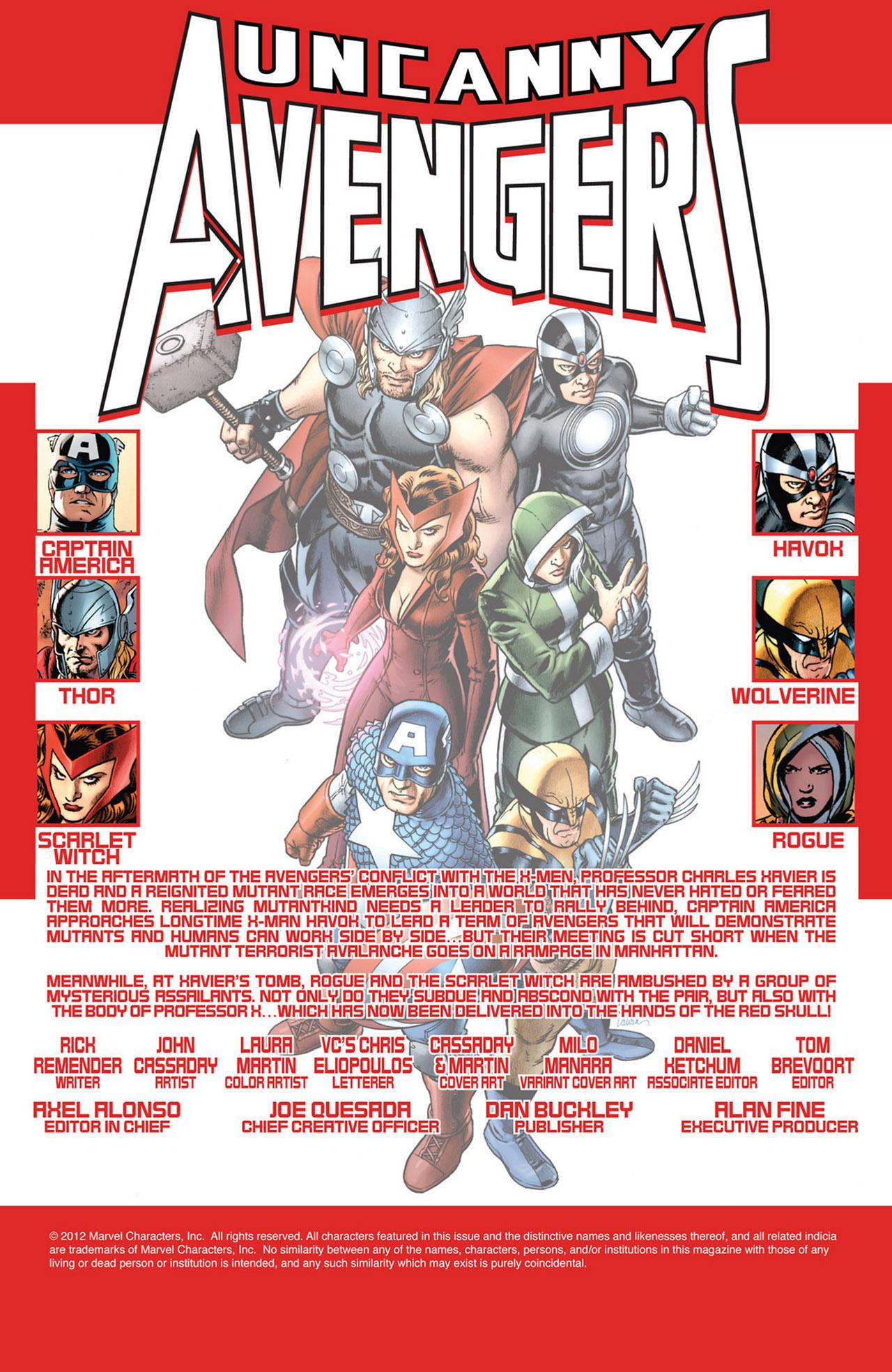 Read online Uncanny Avengers (2012) comic -  Issue #2 - 2