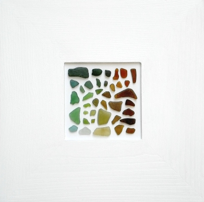 chic framing of seaglass