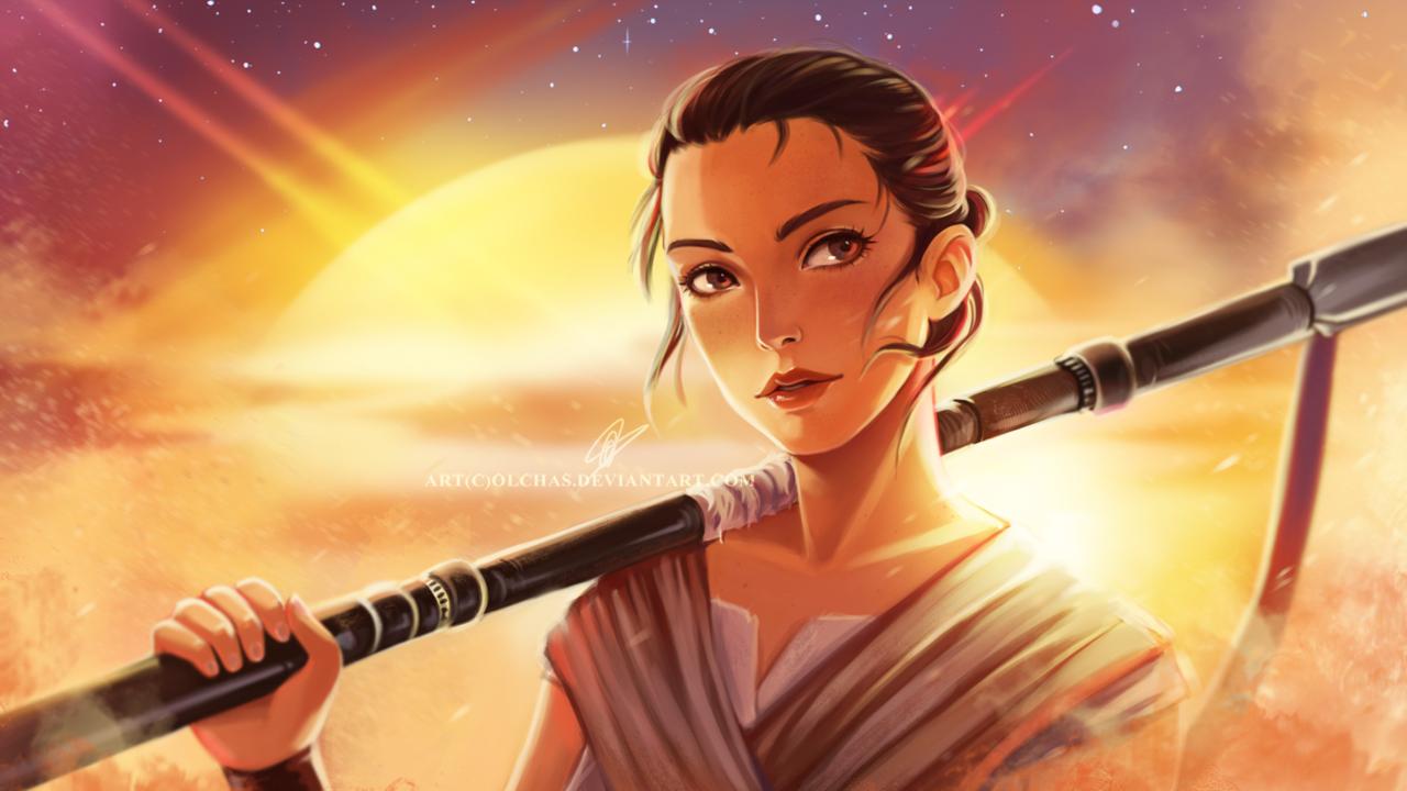 Rey: The Nerdy Werewolf: Fascinating Fanart: Rey From Star Wars