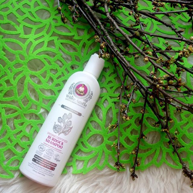 White Agafia - Ekologiczny szampon łopianowy, Wzmocnienie i Blask.