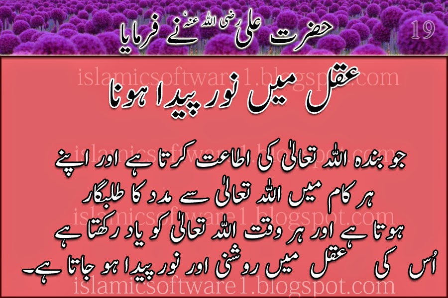 Hazrat Ali R.A urdu quotes