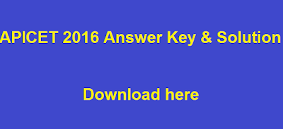 APICET 2016 Answer Key and Solution
