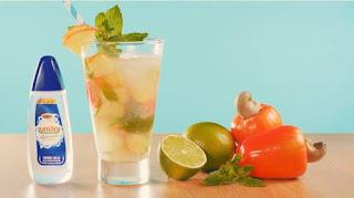 Receita de Bebida de caju e limão com união sucralose