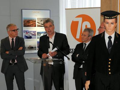 """ROUEN. L'hôtel du Département accueille l'exposition """"Des navires et des hommes"""" qui retrace la liaison trans Manche entre Dieppe et Newhaven."""
