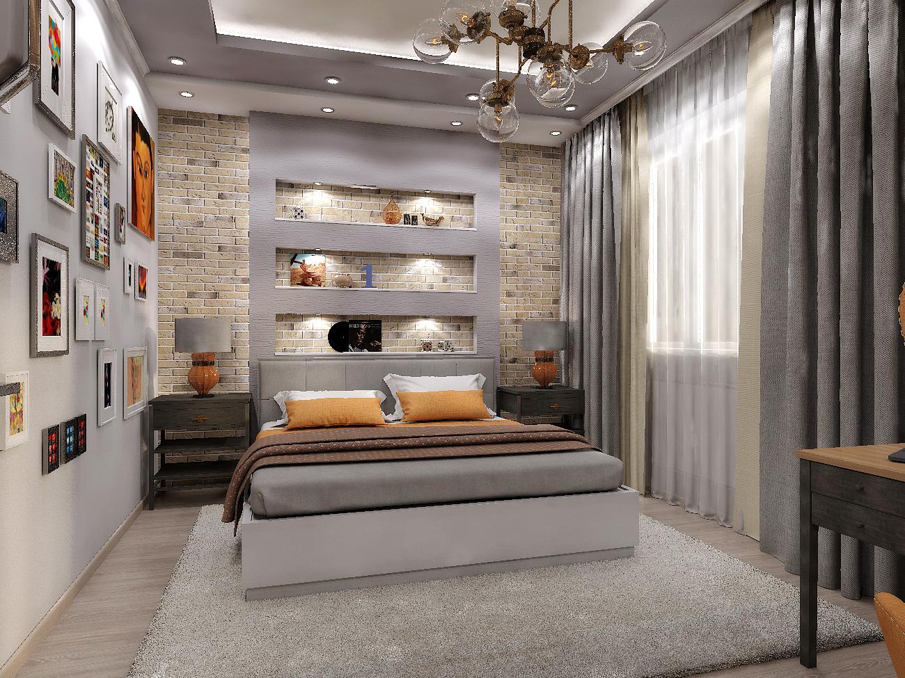 я дизака дизайн интерьера и архитектура дизайн спальни в стиле лофт